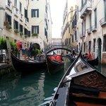 Gondola ride around Venice