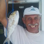 thanks bob one of our best customers having fun with a porgy . smokey