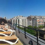 panoramic view of rooftop terrace