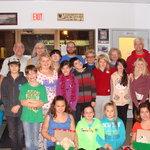 Haileybury Baptist youth pack 60 christmas shoe boxes.  Good job team.