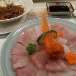 Sashimi, thin sliced hammour - delicious