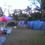 vista do camping Marymar, amizades novas