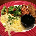 Chicken and shrimp combo