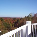 Fall foliage views from Bromley View Inn's deck