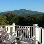 Foliage beginning in the Green Mountains at the Bromley View Inn