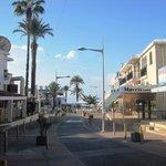 Street towards Paphos harbour & seafront