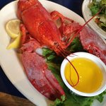 My Lobster lunch with salad