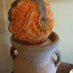 une citrouille sculptée