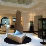 The lobby and its fantastic art pieces
