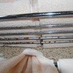 Rust in the towel rack