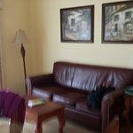 Sofa in sitting area