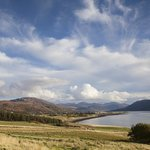 View from the grounds looking to Ullapool over Loch Broom