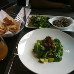 Tofu Avacado Salad and Mushrooms