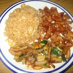 teriyaki chicken with veggies and rice