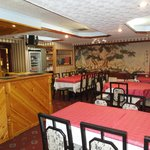 Interior of The New Oriental Chinese Restaurant.