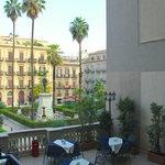 Terrace overlooking Piazza Florio