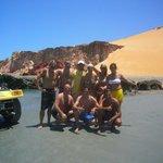 tour in buggy e jangada(barca dei pescatori) a Ponta Grossa(circa 35 km via mare)