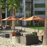 Beach area and fire pits
