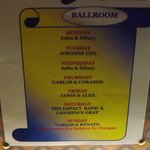 The Weeks Entertainment in the Ballroom