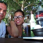 Rhum and Koke at Megans beach cafe and store.