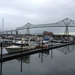 View from our balcony of the Astoria Megler Bridge
