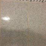 Broken tiles.