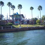 Margaritaville restaurant view from water taxi
