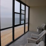 The view and glassed in deck
