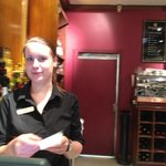 Helga the wonderful bar attendent at the Mellinnium