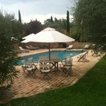 Relaxing Pool area with views of Pienza