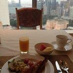 Club Room buffet breakfast view