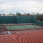 Tennis court across from hotel