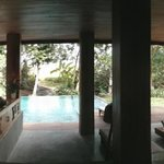 Panoramic view from inside the villa
