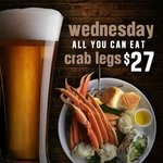 All you can eat crab legs Wed