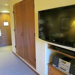 Studio with Murphy bed and flat screen TV