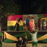 Stage on the beach for a beach party