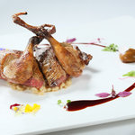 "Roasted Bresse Pigeon with Own Bonbon of its Liver and""Orzo"" Mellow"