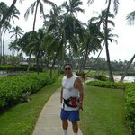 me in front of Elua on oceanfront path