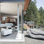 Multiple level decks and living areas with open plan provides lots of choice for gathering or se