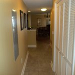 Hallway leading to kitchen, dining and living rooms