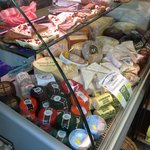 Amazing cheese counter full of delicious West Country Cheeses.....