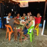 With the Dive masters and staff