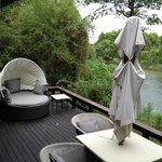 Island Villa Number 4 Deck Area and River View