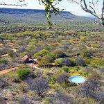 Blick auf die Waterberg Plateau Campsite im privaten Naturreservat von Waterberg Wilderness