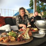 Some of our guests enjoying sundowner platters