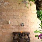 Outside shower (Lotus Room)