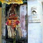 Entrance to Villa Saraswati