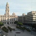 foto di una parte della piazza dal balcone