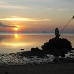 Sunset at the seaside opposite of the resort (you can also sit in a open-air cafe, to enjoy the