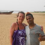 Me & Suresh on the beach
